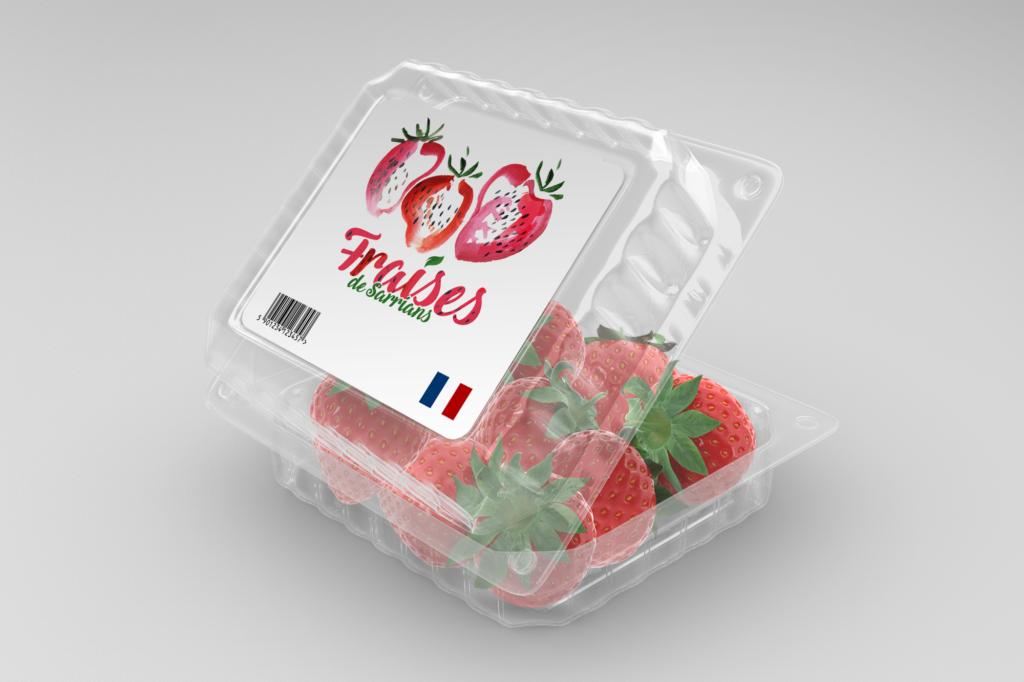 Étiquettes fraises