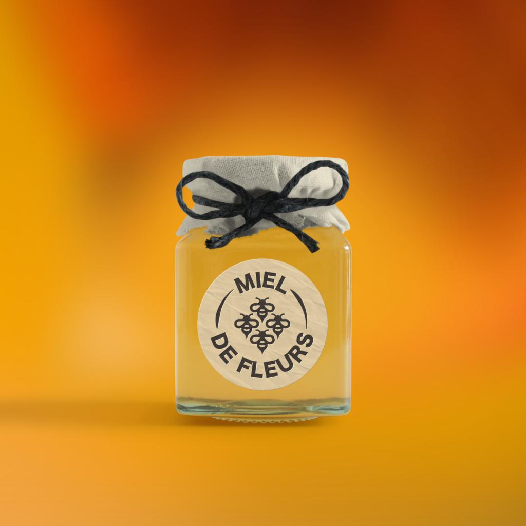 Étiquette adhésive miel
